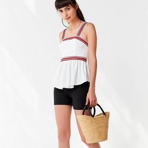 NWoT Urban Outfitters C/MEO Peplum Top, L